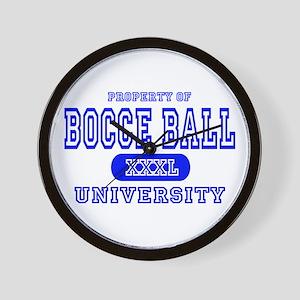 Bocce Ball University Wall Clock
