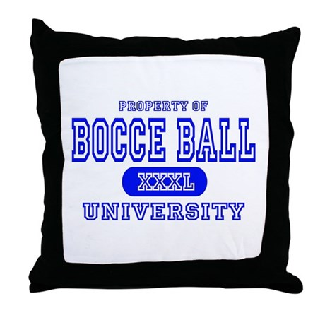 Bocce Ball University Throw Pillow