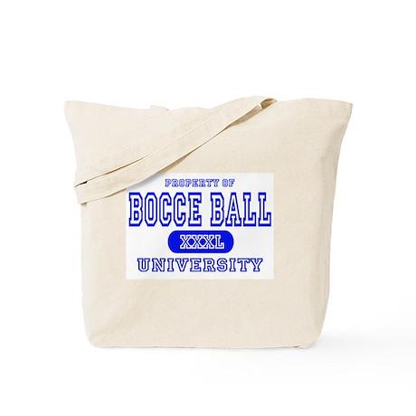 Bocce Ball University Tote Bag