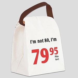 Funny Tax 80th Birthday Canvas Lunch Bag