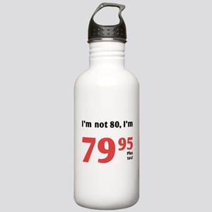Funny Tax 80th Birthday Stainless Water Bottle 1.0