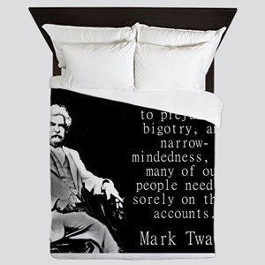 Travel Is Fatal To Prejudice - Twain Queen Duvet