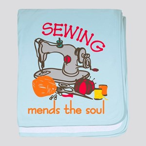 Sewing Mends The Soul baby blanket
