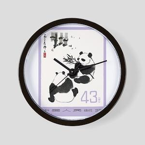 Vintage 1973 China Giant Pandas Postage Stamp Wall