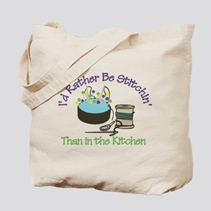 Rather Be Stitchin' Tote Bag