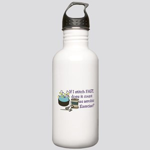 If I Stitch Fast... Water Bottle