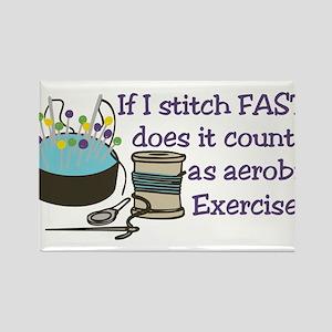If I Stitch Fast... Rectangle Magnet