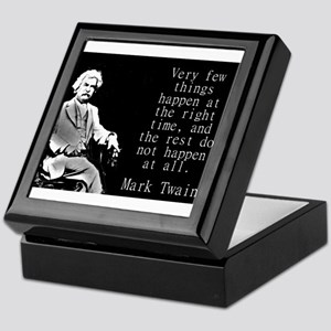 Very Few Things Happen - Twain Keepsake Box