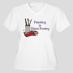 Silent Poetry Women's Plus Size V-Neck T-Shirt