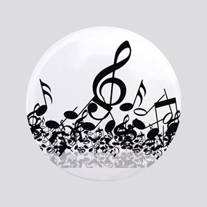 "Music Notes 3.5"" Button"