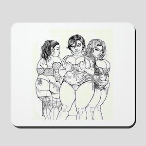 Big Beautiful Women t shirt Mousepad