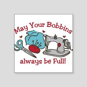 """Bobbins Square Sticker 3"""" x 3"""""""
