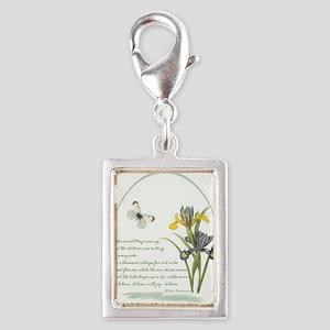 Iris Poem Silver Portrait Charm