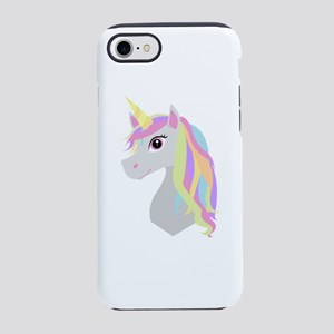 Rainbow Hair Unicorn iPhone 7 Tough Case