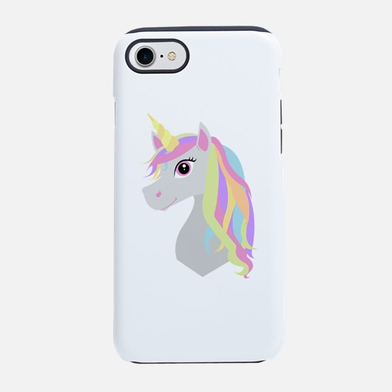 Rainbow Hair Unicorn iPhone 7 Tough Case