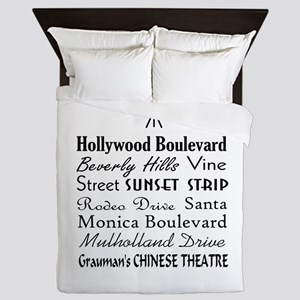 Hollywood Streets Queen Duvet