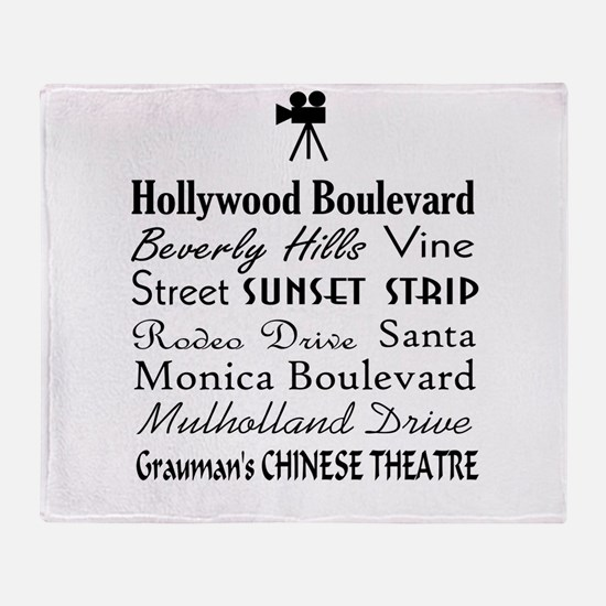 Hollywood Streets Throw Blanket