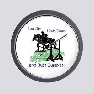 Fun Hunter/Jumper Equestrian Horse Wall Clock