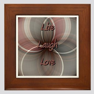Live Laugh Love Framed Tile