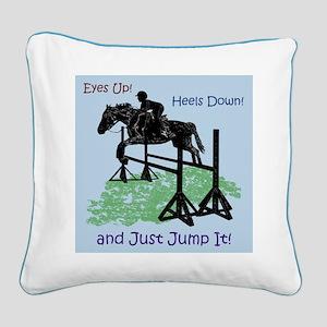 Fun Hunter/Jumper Equestrian Horse Square Canvas P