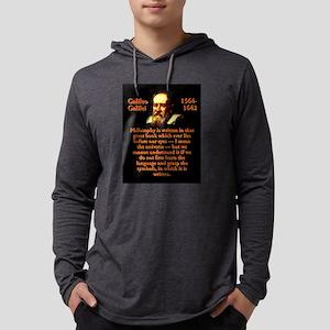 Philosophy Is Written - Galileo Mens Hooded Shirt