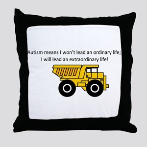 dumptruck Throw Pillow