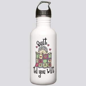 Quilt 'Til You Wilt Water Bottle