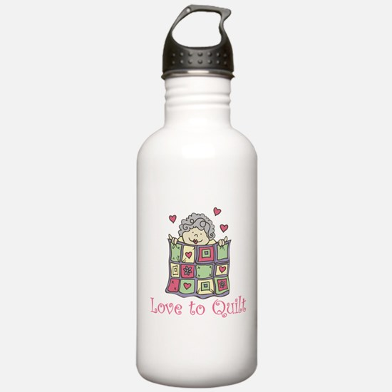 Love to Quilt Water Bottle