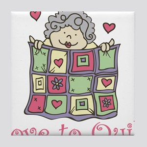 Love to Quilt Tile Coaster