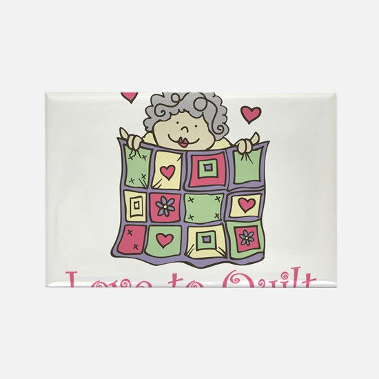 Love to Quilt Rectangle Magnet