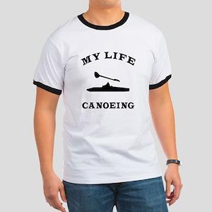 My Life Canoeing Ringer T