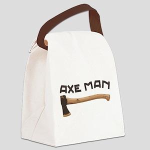 Axe Man Canvas Lunch Bag