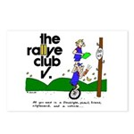 Postcards w/ unicycle catoon, Package of 8