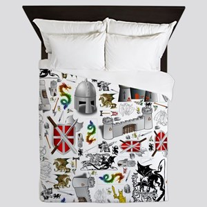 Medieval Mash-up Queen Duvet