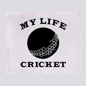 My Life Cricket Throw Blanket