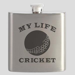 My Life Cricket Flask