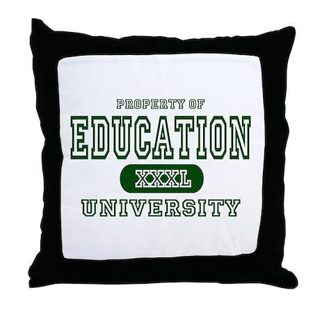 Education University Throw Pillow