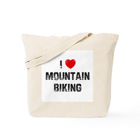 I * Mountain Biking Tote Bag