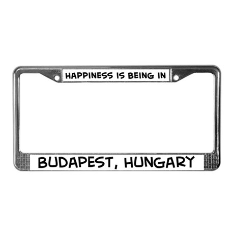 Happiness is Budapest License Plate Frame