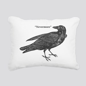 Nevermore Raven Rectangular Canvas Pillow