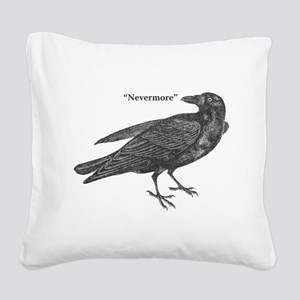 Nevermore Raven Square Canvas Pillow