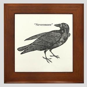 Nevermore Raven Framed Tile
