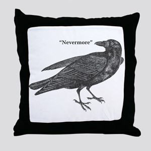Nevermore Raven Throw Pillow