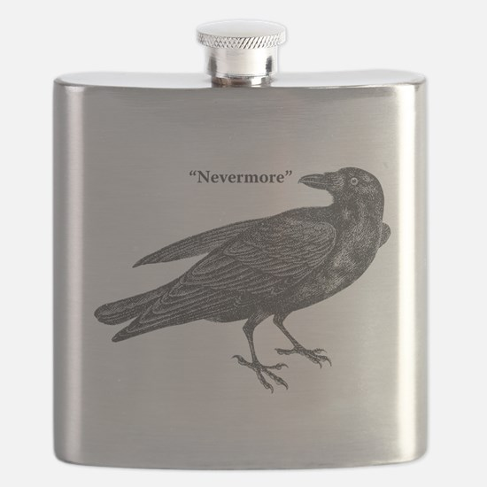 Nevermore Raven Flask