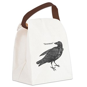 b1dabd5e2ee6 Raven Blackbird Crow Bird Edgar Allen Poe Canvas Lunch Bags - CafePress