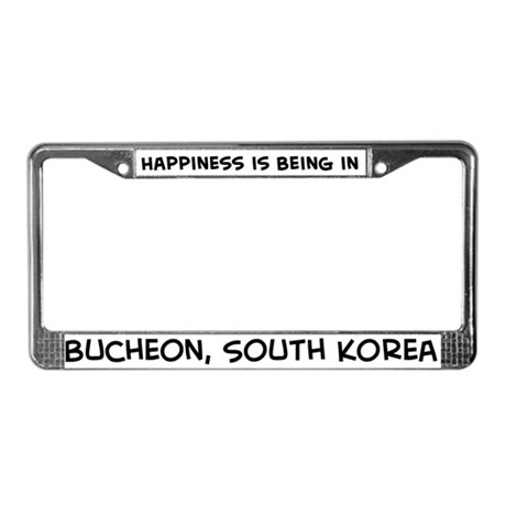 Happiness is Bucheon License Plate Frame