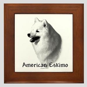 Eskimo Charcoal Framed Tile