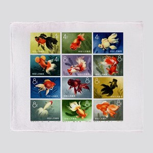 Vintage 1960 China Goldfish Set Postage Stamps St