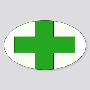 Green Medical Cross Sticker