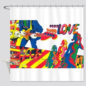 $49.99 Mod Love Shower Curtain